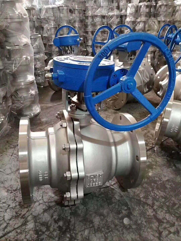 Q341F不锈钢蜗轮法兰球阀